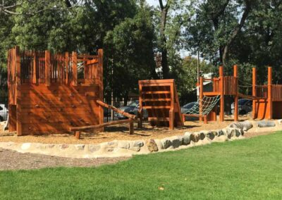 Annesley Junior School Nature play - by Dirtwork Landscapes